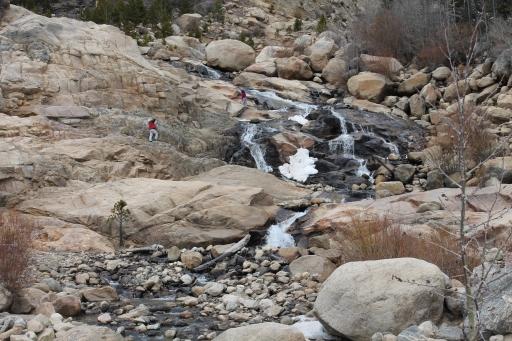 hiking in rocks